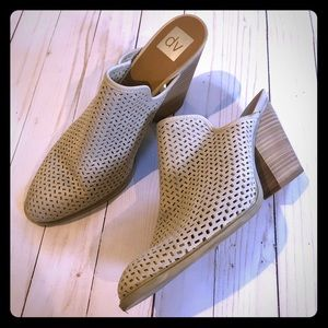DV Dolce Vita Perforated Taupe Mules in Size 11